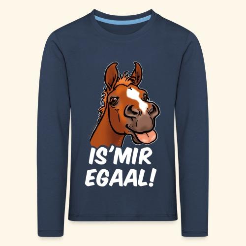 Fohlen Is Mir Egaal! (weisser Text) - T-shirt manches longues Premium Enfant