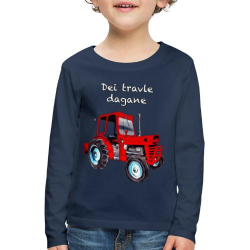 Traktor - Premium langermet T-skjorte for barn