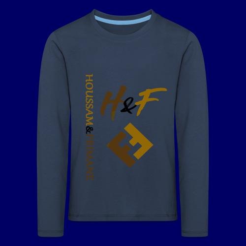 h&F luxury style - Maglietta Premium a manica lunga per bambini