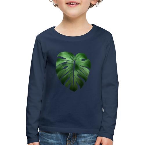 Foglia dalla Natura - Maglietta Premium a manica lunga per bambini