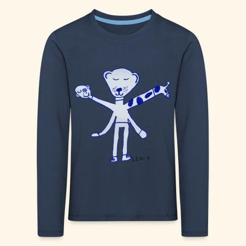 LeniT Teddy With a Twist - Lasten premium pitkähihainen t-paita