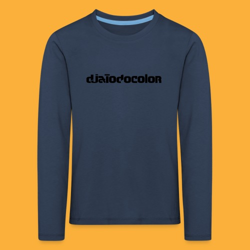 DJATODOCOLOR LOGO NEGRO - Camiseta de manga larga premium niño