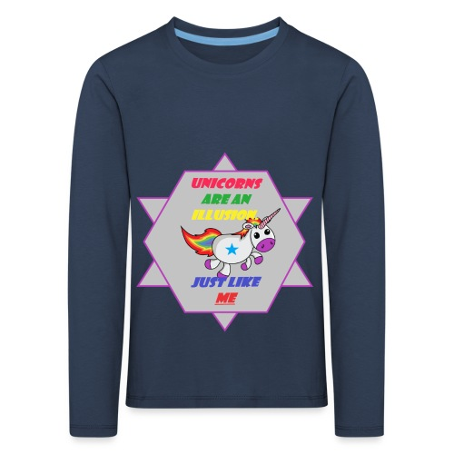 Unicorn with joke - Kids' Premium Longsleeve Shirt