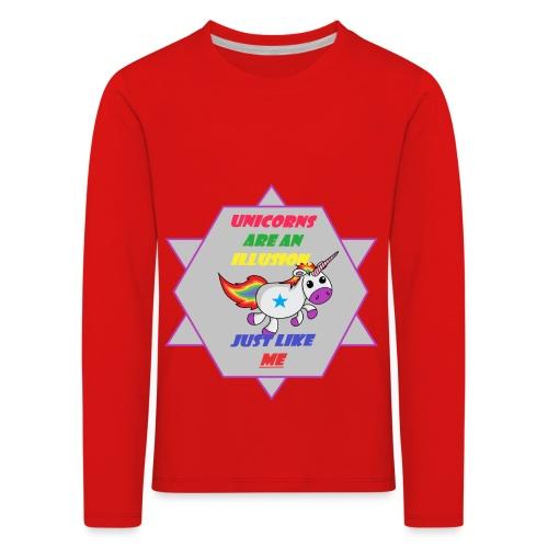 Unicorn with joke - Kids' Premium Longsleeve Shirt