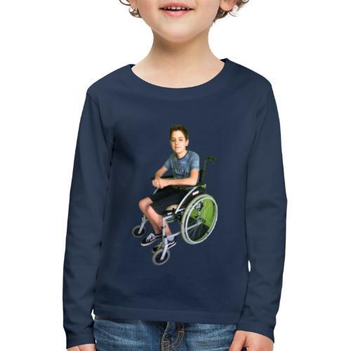 Michael Brown Rollstuhl (Version ein) - Kinder Premium Langarmshirt