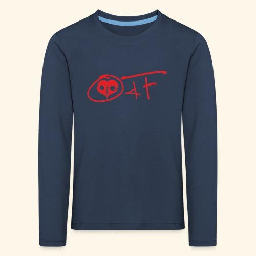 O4F ROSSO - Maglietta Premium a manica lunga per bambini