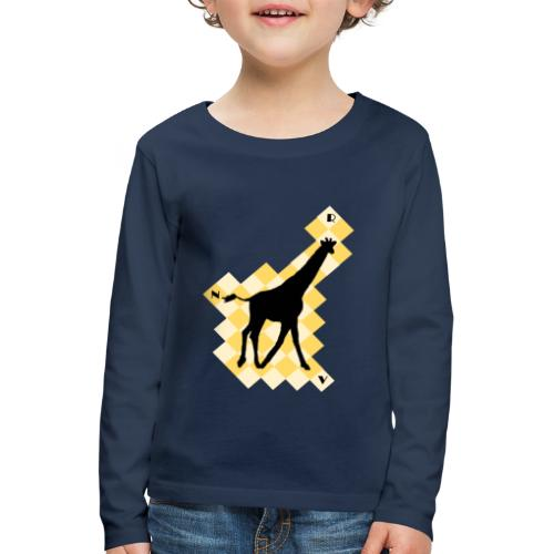 GiraffeSquare - Lasten premium pitkähihainen t-paita