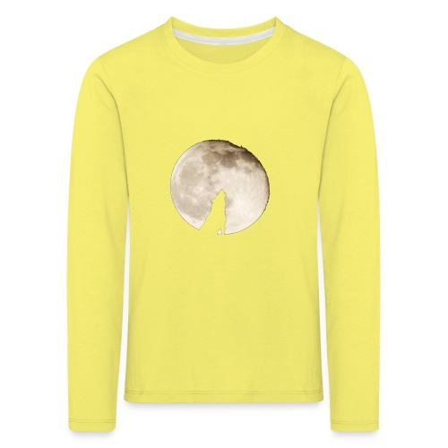The wolf with the moon - T-shirt manches longues Premium Enfant