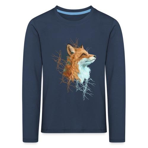 Happy the Fox - Kinder Premium Langarmshirt