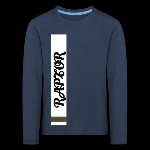 Raptor Sleeve white backround - Kids' Premium Longsleeve Shirt