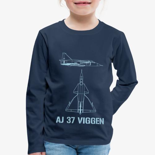 AJ 37 VIGGEN - Långärmad premium-T-shirt barn