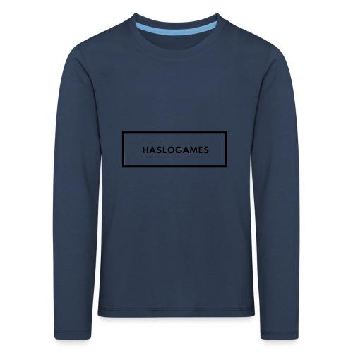 HasloGames White/Black edition! - Kinderen Premium shirt met lange mouwen