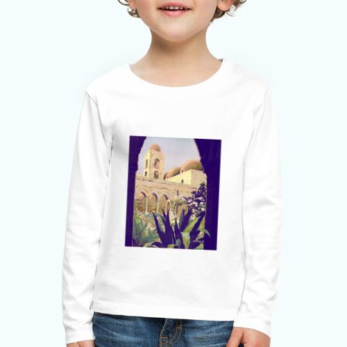 Palermo Vintage Travel Poster - Kids' Premium Longsleeve Shirt