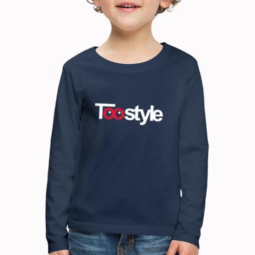 Toostyle white - Maglietta Premium a manica lunga per bambini