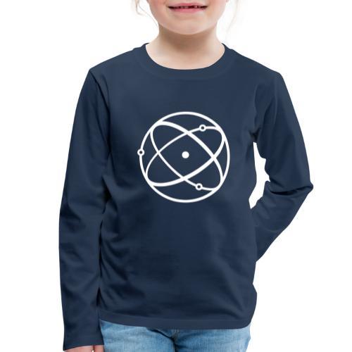 Atom, weiß - Kinder Premium Langarmshirt