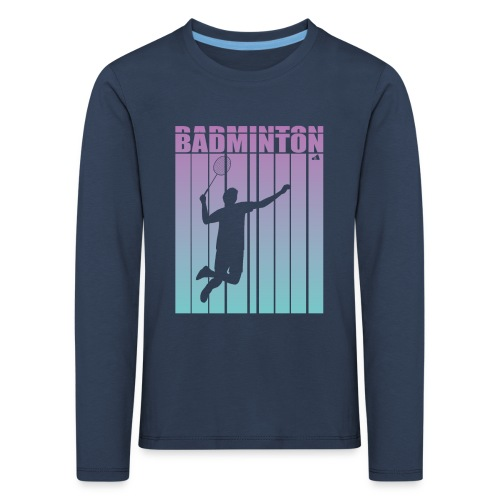Badminton Jump Smash - Kids' Premium Longsleeve Shirt