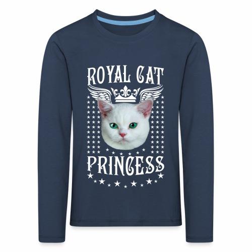 26 Royal Cat Princess white feine weiße Katze - Kinder Premium Langarmshirt