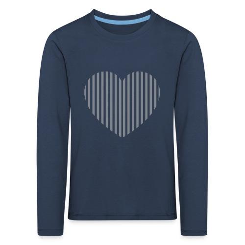 heart_striped.png - Kids' Premium Longsleeve Shirt