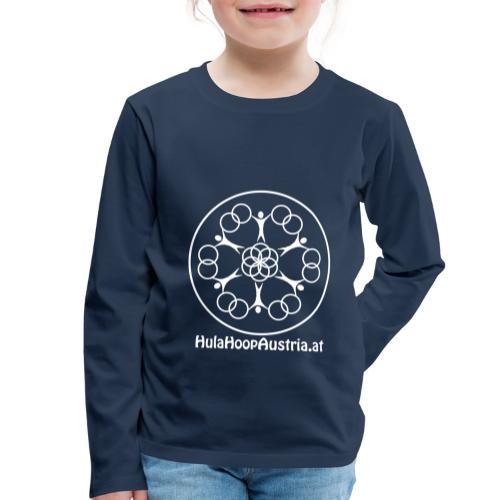 Hula Hoop Austria Logo White - Kinder Premium Langarmshirt