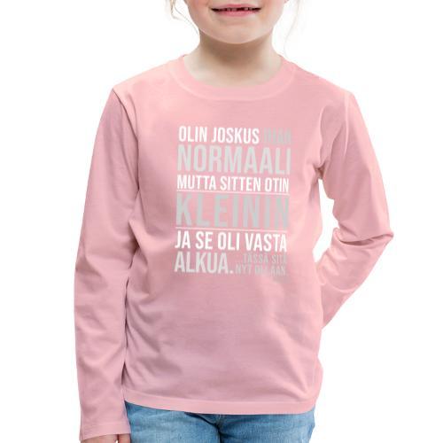 Vasta Alkua Kleini - Lasten premium pitkähihainen t-paita