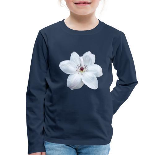 Jalokärhö, valkoinen - Lasten premium pitkähihainen t-paita