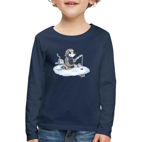 Ice Fishing Badger - Premium langermet T-skjorte for barn