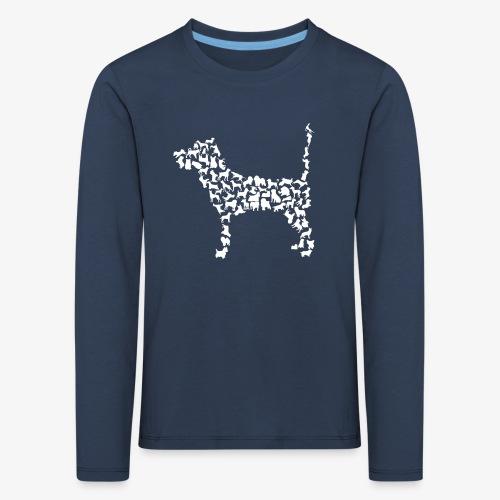 Hunde Kollage - Kinder Premium Langarmshirt