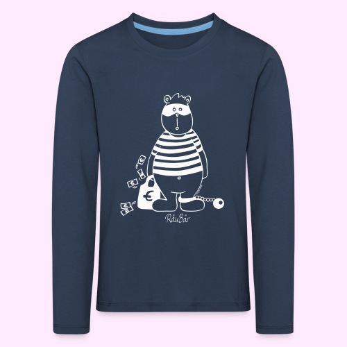 T-Shirt Bio schwarz RäuBär - Kinder Premium Langarmshirt