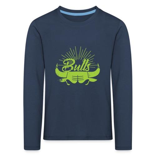 Toros verdes, Bulls BasketBall deporte - Camiseta de manga larga premium niño