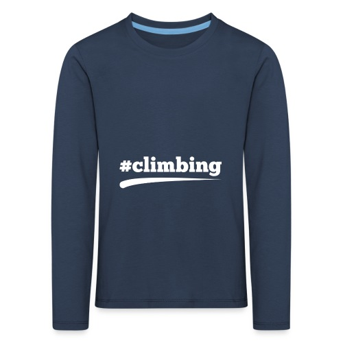 #CLIMBING - Kinder Premium Langarmshirt