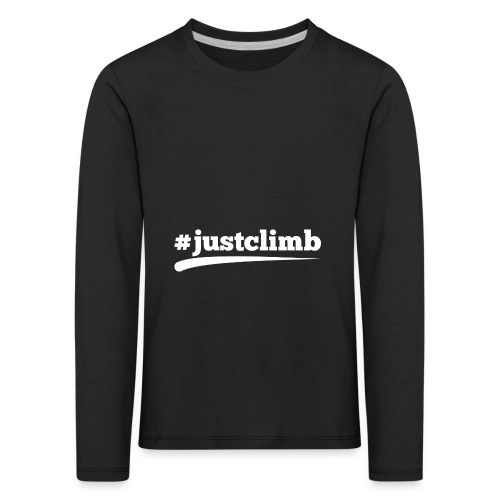 #JUSTCLIMB - Kinder Premium Langarmshirt