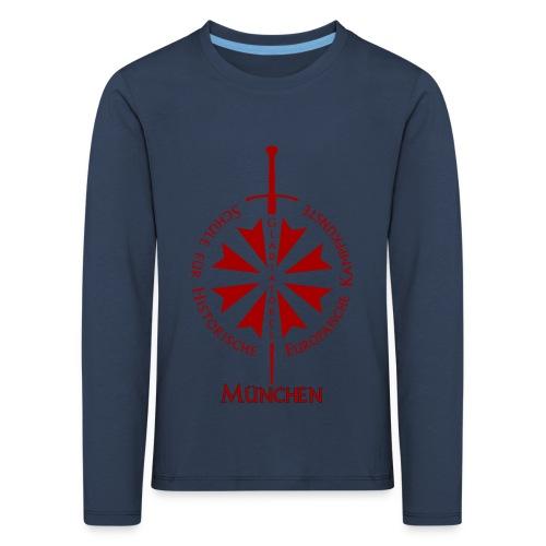 T shirt front M - Kinder Premium Langarmshirt