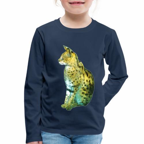 Schöner sitzender Serval - Kinder Premium Langarmshirt