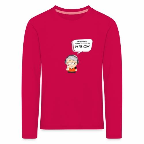 Le Vieux Bourré - T-shirt manches longues Premium Enfant