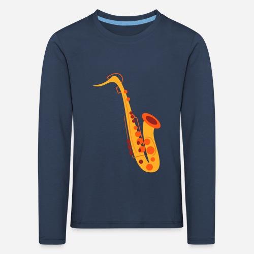Goldenes Saxophon - Kinder Premium Langarmshirt