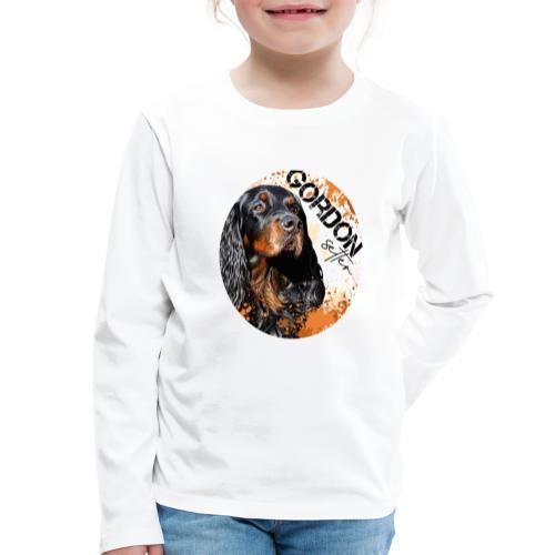 Gordon Setter Splash - Lasten premium pitkähihainen t-paita