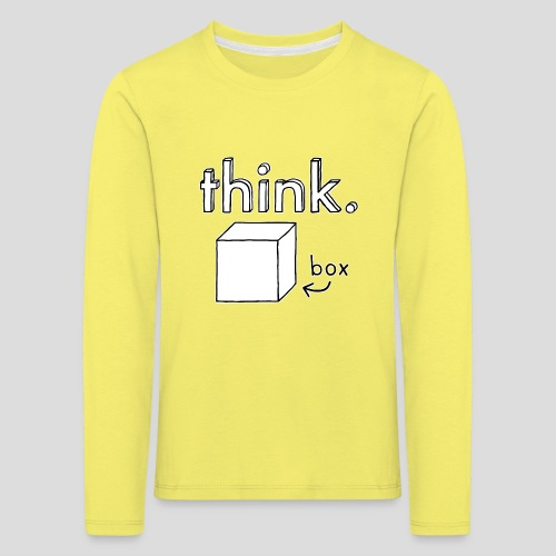 Think Outside The Box Illustration - Kids' Premium Longsleeve Shirt