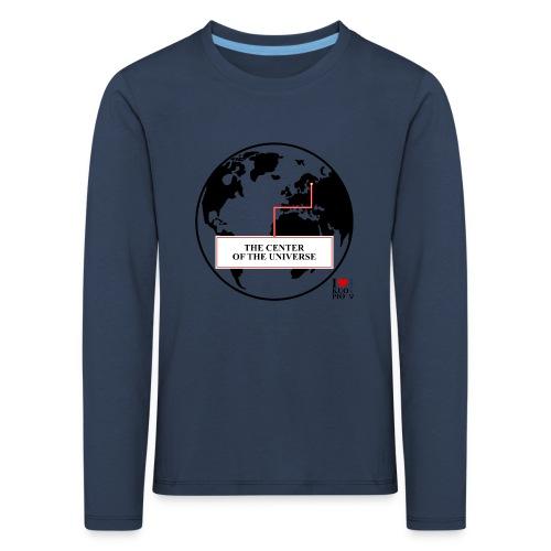 THE CENTER OF THE UNIVERSE - Lasten premium pitkähihainen t-paita
