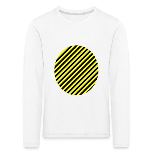 varninggulsvart - Långärmad premium-T-shirt barn