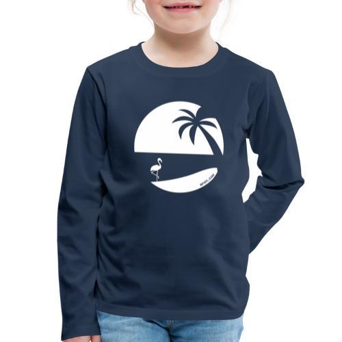 Logo French Floridian blanc - T-shirt manches longues Premium Enfant
