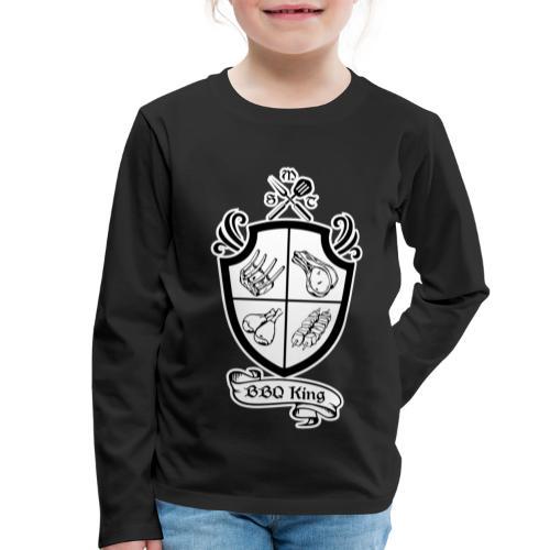 BBQ King - Maglietta Premium a manica lunga per bambini