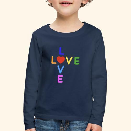Rainbow Love. Regenbogen Liebe - Kinder Premium Langarmshirt