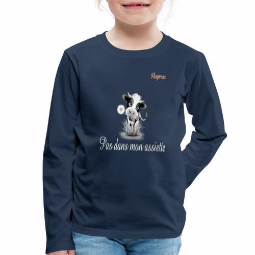 Pas dans mon assiette - T-shirt manches longues Premium Enfant