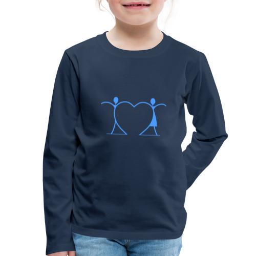 Tenersi per mano, andare lontano.... LIGHT BLUE - Maglietta Premium a manica lunga per bambini