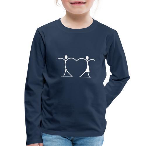 Tenersi per mano, andare lontano.... WHITE - Maglietta Premium a manica lunga per bambini
