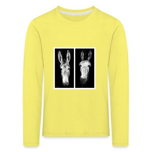 Eselköpfe-Esel - Kinder Premium Langarmshirt
