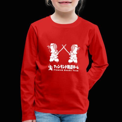 fka team logo white - Lasten premium pitkähihainen t-paita