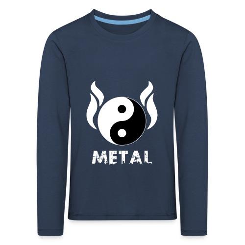 YIN YANG METAL - Kinder Premium Langarmshirt