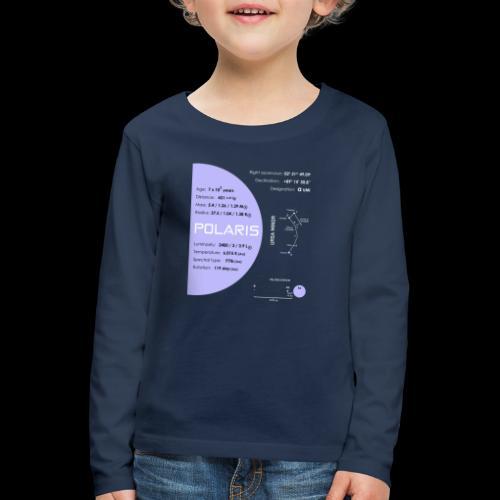 Polaris (Polarstern / α Ursae Minoris) - Kinder Premium Langarmshirt
