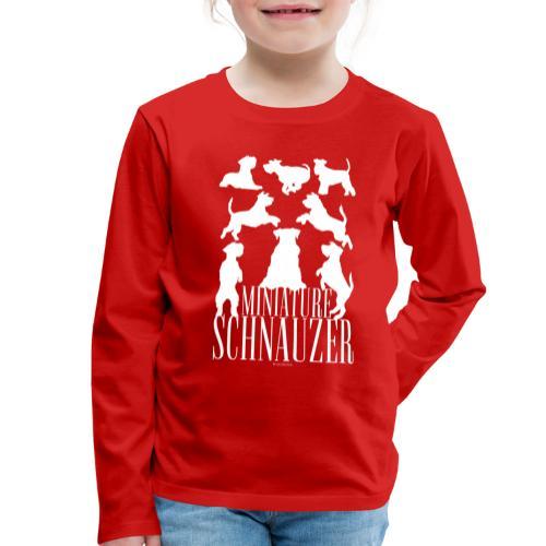 Miniature Schnauzer - Lasten premium pitkähihainen t-paita